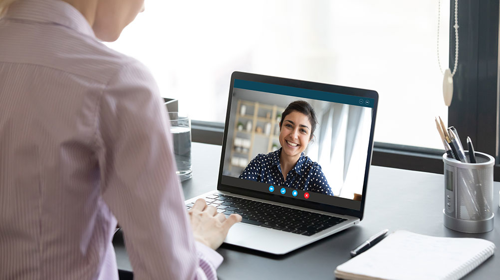 An image of face-to-face consultations.