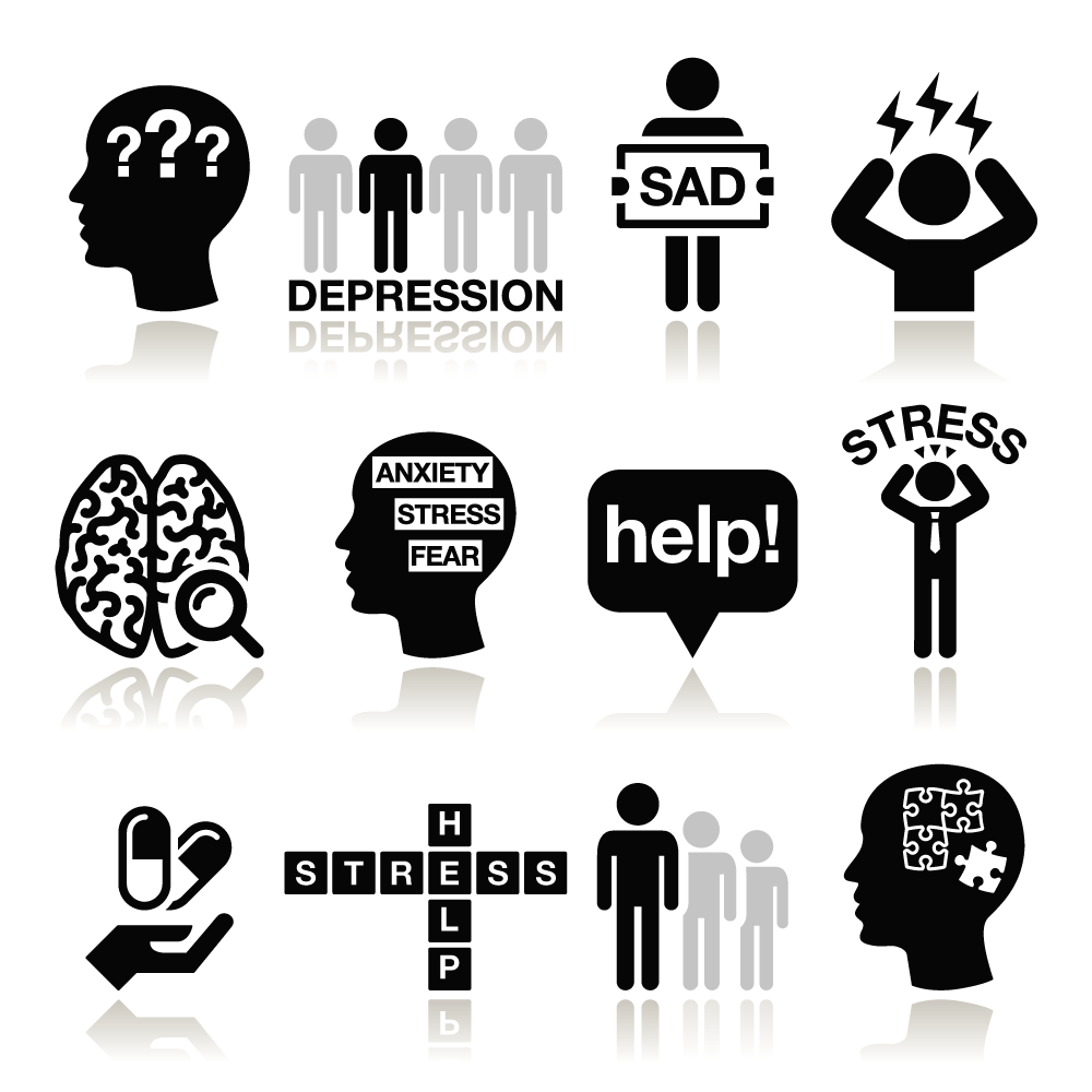 An image of mental health icons.