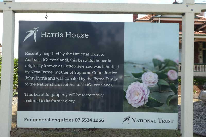 Harris house sign